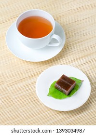 """Traditional Japanese confections called """"wagashi"""" that are often served with tea"""