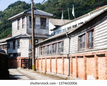 Traditional Japanese craftsman houses in the town of Arita, birthplace of Japanese porcelain - Saga prefecture, Japan