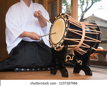 Traditional Japanese drums