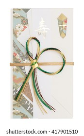 Traditional Japanese envelope for money gift, the envelope present to celebration