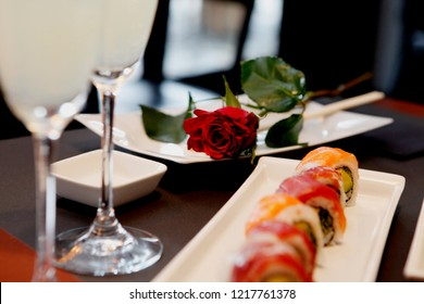 Traditional Japanese food Sushi for Valentine day