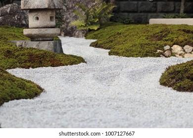 Traditional Japanese garden detail