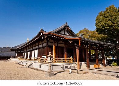 Traditional Japanese house at Shitennoji temple, Osaka, Japan