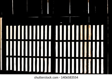 Traditional japanese house sliding paper door and light with nobody architecture in Takayama, Japan in Hida no Sato old folk village