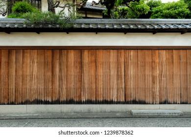 The traditional japanese houses in Kurashiki ,Okayama city , Japan