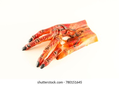 Traditional Japanese mask glove of a demon