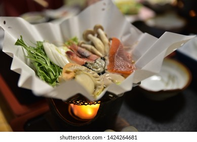 A traditional Japanese meal called Kaiseki.
