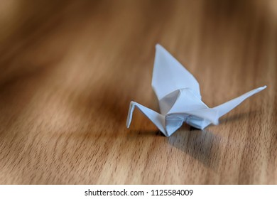 Traditional Japanese paper crane origami, close-up. HDR image