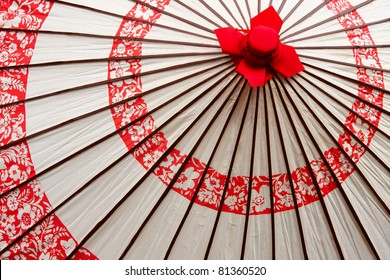 A traditional Japanese paper umbrella