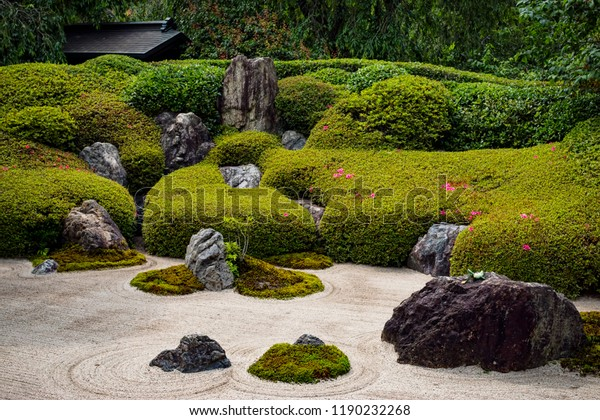 Traditional Japanese Rock Garden Zen Buddhist Stock Photo Edit