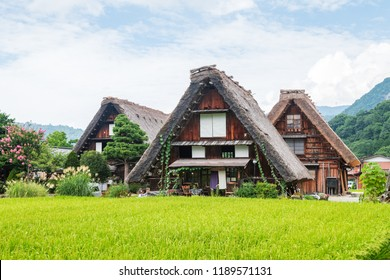traditional Japanese village at shirakawago, Japan