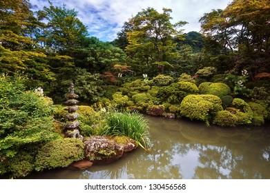 "Traditional Japese Garden ""Shoyo-en"" in Nikko, Japan"