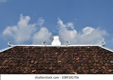 traditional javanes roof house ornament, this is a part of traditional Javanese house named Joglo/Limasan