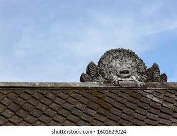 Traditional Javanese tile roof ornament.