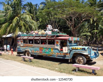Traditional jeepney in The philippines