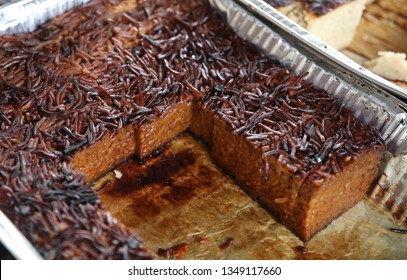 "The traditional Jewish dish known as ""yerushalmi kugel"" made of noodles and scolding sugar caramel, served on holidays and the Sabbath"