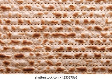 Traditional Jewish matzah kosher macro horizontal background