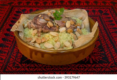 Traditional Jordanian and Palestinian dish - Mansaf