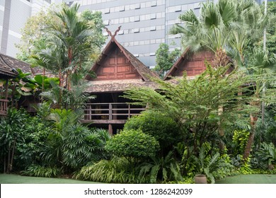 the traditional Kamthieng House in Sukhumvit in the city of Bangkok in Thailand in Southeastasia.  Thailand, Bangkok, November, 2018