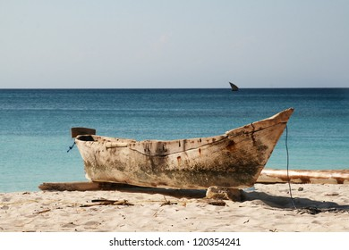 Traditional kayak in Zanzibar