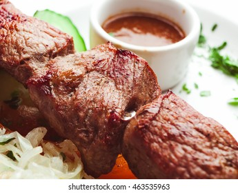 Traditional Kebab with sauce