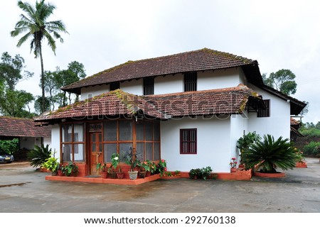 Traditional Kerala Style House India Stock Photo Edit Now