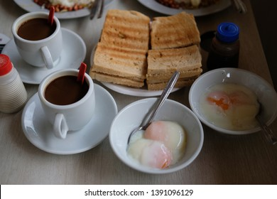 Traditional Kopi & Kaya Toast Breakfast in Singapore