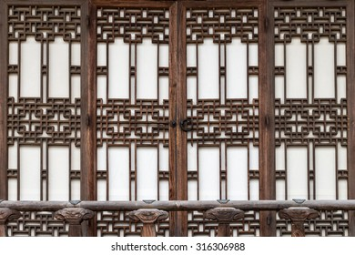 Traditional Korean door decorations