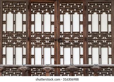 Traditional Korean door decorations