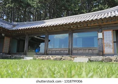 Traditional Korean house with garden