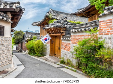 Traditional Korean style architecture at Bukchon Hanok Village i