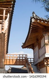 Traditional Korean style architecture house(Hanok). Traditional Korean house.