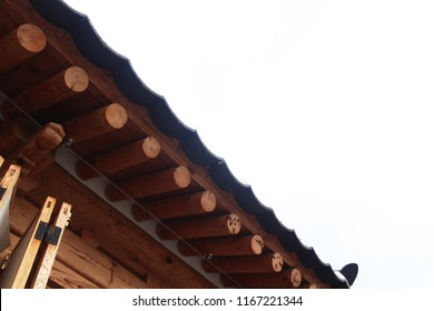 Traditional Korean-style house roof