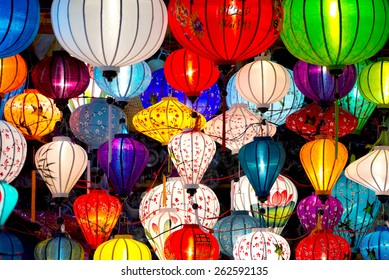 Traditional lanterns in Old Town Hoi An, Vietnam.