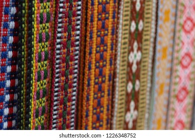 Traditional Latvian belts are belts are made with yarn, precious artefacts, variety of colors, different in Latvian regions.  They are present in festivities and family occasions. Latvia