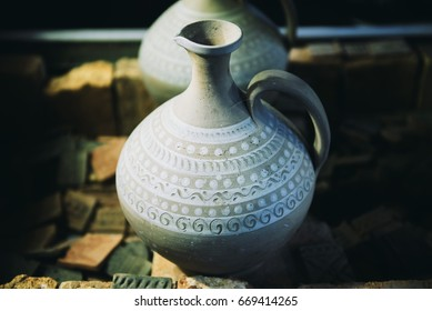 Traditional Latvian Coloured Pottery.