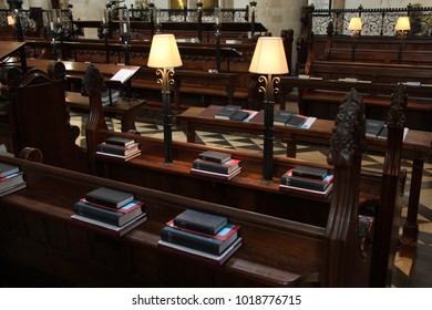 Traditional library and bible
