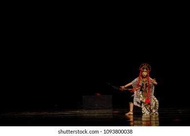 Traditional Losari Mask Dance