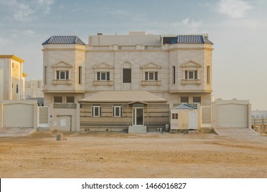 A Traditional Luxurious Arabian Villa building at Doha Qatar in Arabic architecture