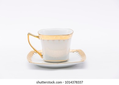 Traditional luxury Thai Ceramic, Thai art and craft, Thai earthenware, Benjarong, bone china on white background