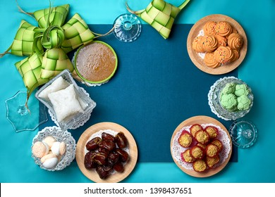 Traditional Malay Food and cookies during Ramadan and Eid Mubarak. Hari Raya Aidilfitri Festive