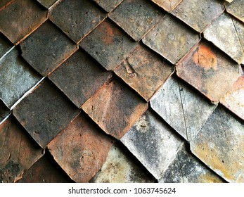 Traditional Malay roof tiles pattern.
