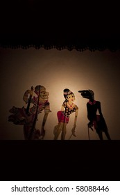 A Traditional Malaysian Shadow Puppet Show (Wayang Kulit)