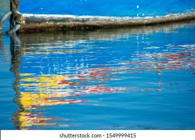 Traditional Malta fishing boats luzzu