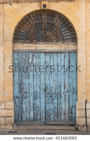 Traditional Maltese ancient blue