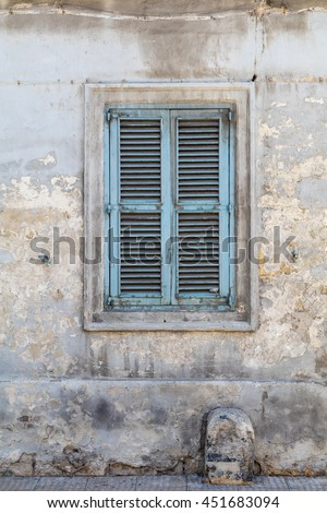Traditional Maltese blue wooden