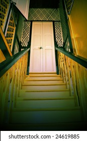 traditional mansion interior design in lomography effect
