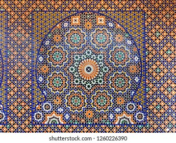 Traditional maroccan pattern tiled background
