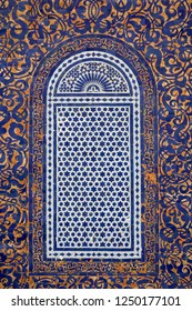 Traditional maroccan pattern tiled window background