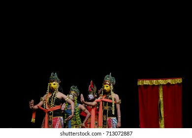 A Traditional Mask Dance From East Java, Indonesia